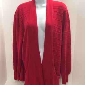 Side-Effects Red Cardigan Sweater size XL